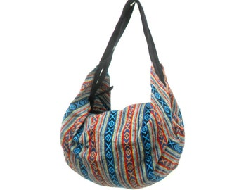 Shoulder Bag Backpack Bag Crossbody Bag  Multicolor Hippie Boho Hobo Art Bag Purse Bohemian Bag Handmade Sling Bag Thai Gift