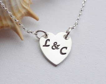 Sterling Silver Heart with Initial or Initials