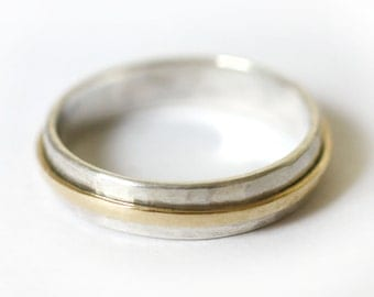 Man's Wedding Ring, Men's Wedding Ring, Man's wedding band, Gold Wedding Ring, Wedding Band, Eternity Ring, Gold and Silver Jewellery