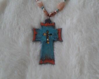 "3"" Patina Finish Cross Pendant"