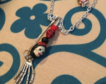 Day of the Dead Earring and Necklace set