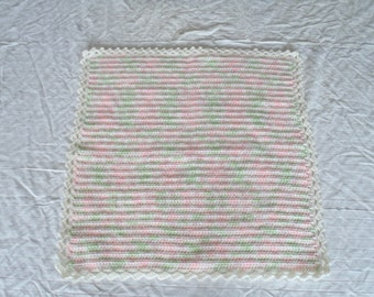 Crochet Baby Blanket Hand Made Afghan