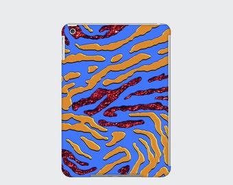 Zebra Print iPad Case Cover for iPad Mini iPad Air and iPad 2 3 and 4, Blue