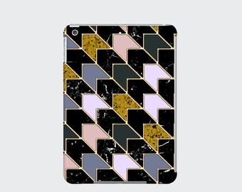 Marble Chevron iPad Case Cover for iPad Mini iPad Air and iPad 2 3 and 4, Grey