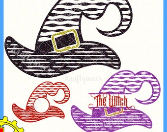 Witch SVG Halloween svg halloween monogram svg halloween shirt svg wood sign svg Linocut SVG DXF cut file commercial use