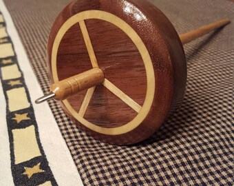 Peace Sign Drop Spindle