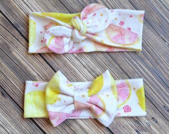 Organic Knit Pink Lemonade Headband