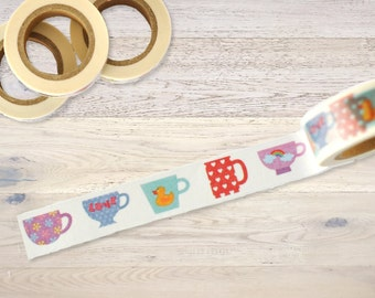 Masking Tape with little cups and mugs Washi Tape