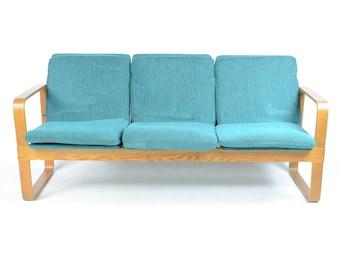 Blue 1960s Thonet Bentwood Sofa
