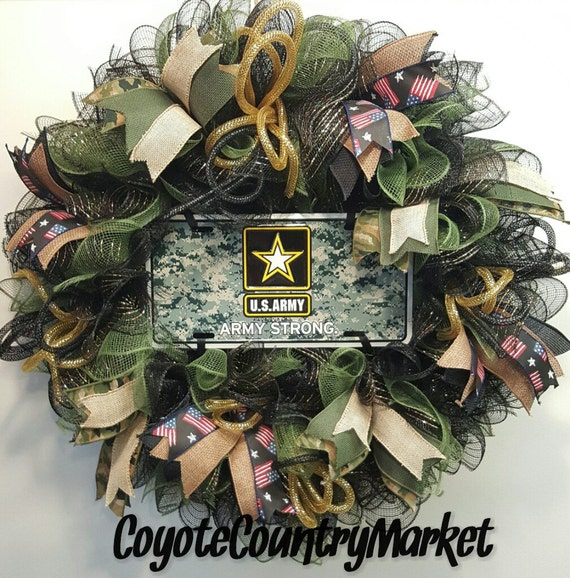United States Army Mesh Wreath Army Strong Wreath US Army