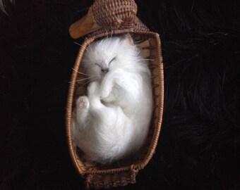 Needle Felted Birman Kitten Cat Memorial Custom Made