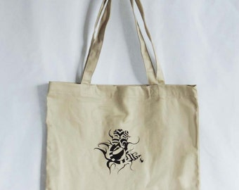 Tote bag, Market Bag, Reusable Shop Bag, Tribal Symbol