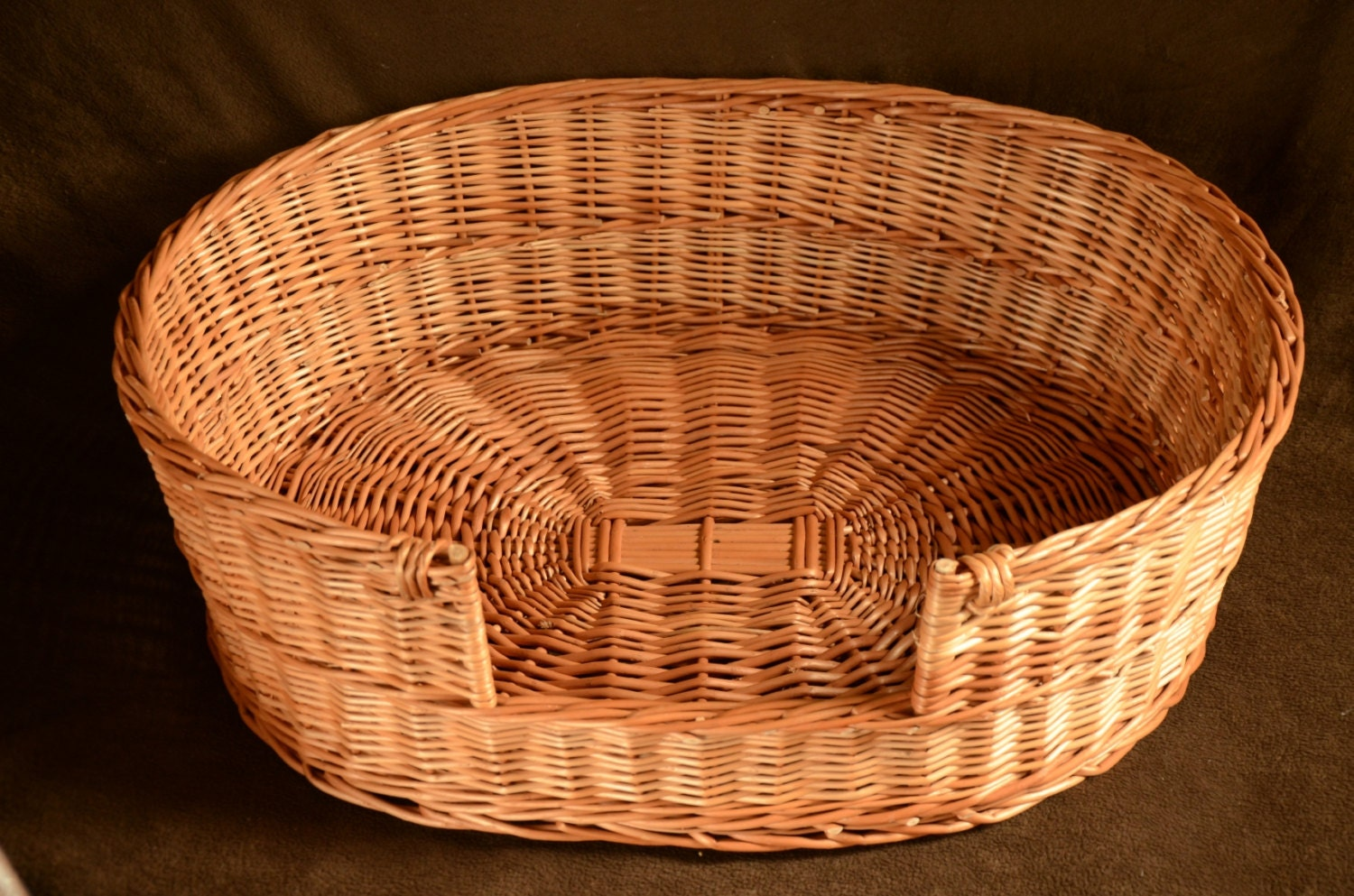 Wicker Dog Bed Pet Bed Dog Cat Basket Medium Dog Wicker