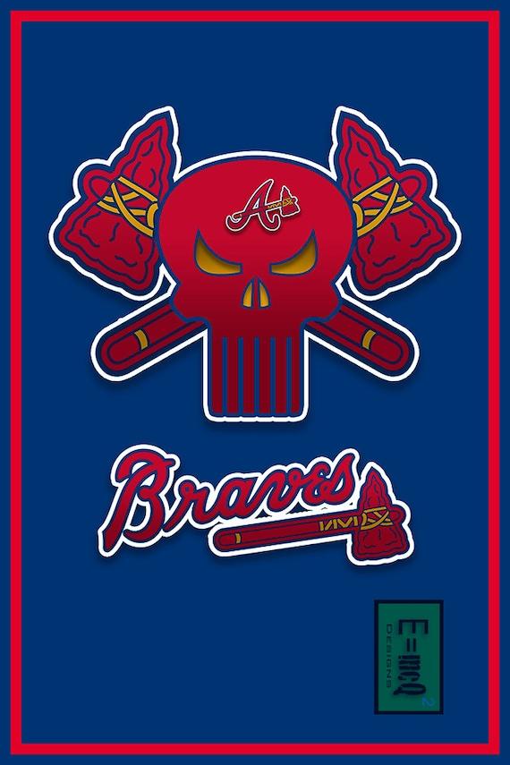Atlanta Braves Bedroom Decor: Atlanta Braves Art Atlanta Braves Poster Atlanta By McQDesign