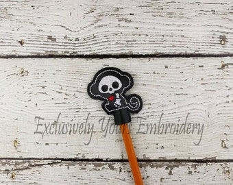 Monkey Skellie Pencil Toppers - Classroom Prizes - Party Favor - Skeleton - Party Supplies - Small Gift - Back to School