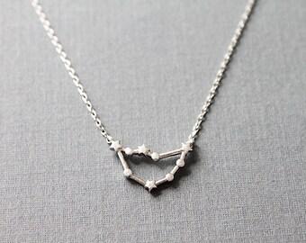 Capricorn Constellation Necklace Zordiac Capricorn Necklace Birthday Gift .