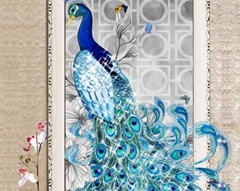 Peacock Crystals Diamond Painting Cross Stitch Rhinestone Painting Pasted Paint By Number Kits