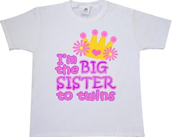 I'm the big sister to twins. Youth T-Shirt by Inktastic