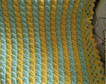 Baby Blanket / Toddler Blanket / Lap Blanket / Crocheted Blanket / Cozy Blanket/Play Blanket/Crib Blanket/Nap Time Blanket/Christmas Gift