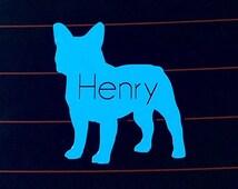 Car Decal - Custom French Bulldog Car Decal - Vinyl Frenchie Car Sticker