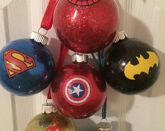 Super Hero ornaments