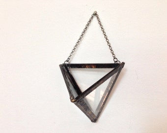 Hanging Air Plant Geometric Soldered Terrarium - Wall Planter Pod
