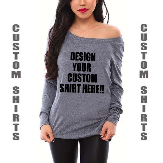 Custom Shirts- Women's Off the Shoulder Shirt. Design Your Own Shirt. Personalized Shirts. Disney Shirts. Bachelorette Party Shirts. Gifts.