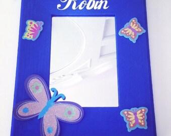 Kids Mirror, Mirror, Nursery Mirror, Children's Mirror, Girls Mirror, Nursery decor, Personalized Mirror, Picture Frame, Kids gift, Kids toy