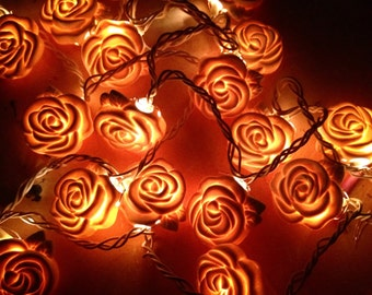 Porcelain Rose String Lights