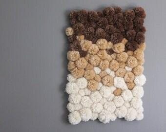 Ombre Pom Pom Rug | Neutral Bath Mat | Baby Room Decor | Yarn Pom Pom Carpet  | Pom