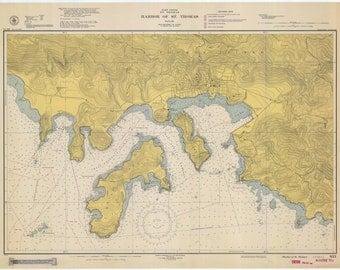 St. Thomas Island Harbor (USVI) Historical Map 1948
