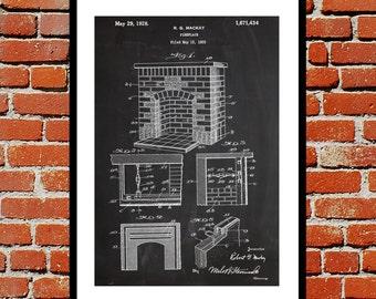 Fireplace Patent, Fireplace Poster, Fireplace Blueprint,  Fireplace Print, Fireplace Art, Fireplace Decor sp363