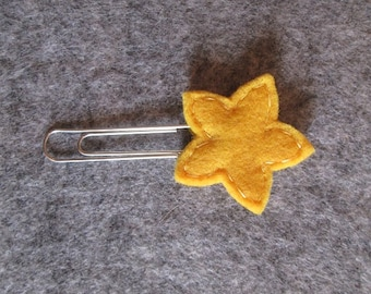 Star paper clip; Felt paper clip; Planner accessories; Star planner clip; Bookmark; Felt bookmark;  Back to school; Gift under 3.