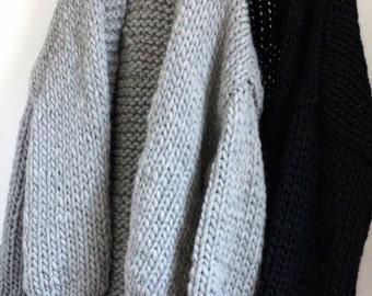 Black LUCIEN 100% wool waistcoat