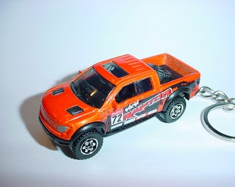 3D 2010 Ford F-150 Raptor truck custom keychain by Brian Thornton keyring key chain finished in orange 4x4 racing trim pick up offroad