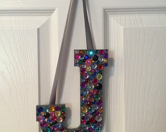 Bedazzled Initial Hanging