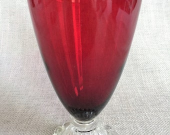 Boopie Red Water Goblet by Anchor Hocking