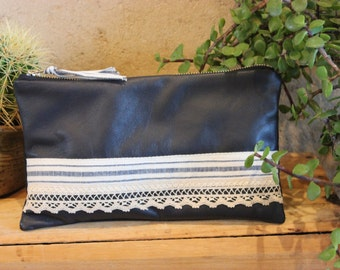Leather Clutch - CLEARANCE ITEM
