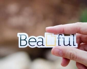 Bea-UTAH-ful Sticker