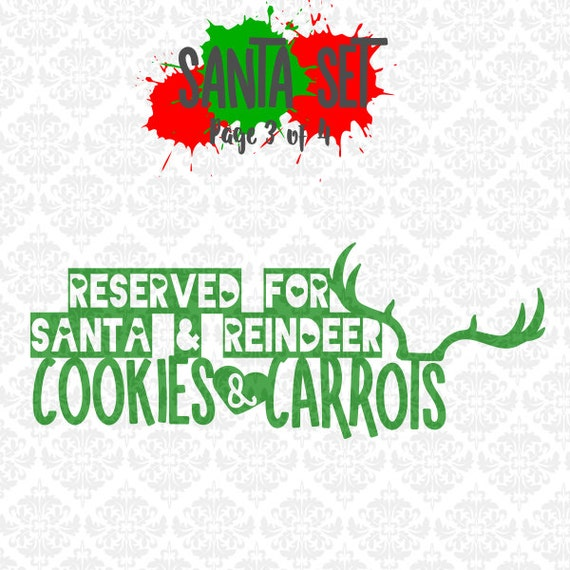 Santa Presents Reindeer Christmas Cookies Ornaments Plate SVG DXF Ai EPS Scalable Vector Instant Download Commercial Use Cricut Silhouette