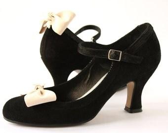 Shoe Clips White Alcantara beaded bow/knot Bow Shoe Clips