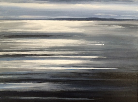 Puget Sound, sea painting, abstract painting, contemporary art, Pacific Northwest, Northwest art, acrylic painting, abstraction, landscape