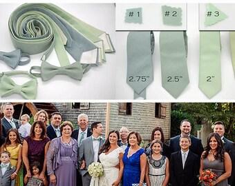 No#23,#85 linen green shades ties,sage,succulent,hemlock,dusty shale,wedding ties,groom,groomsmen,men,wedding set,green wedding color