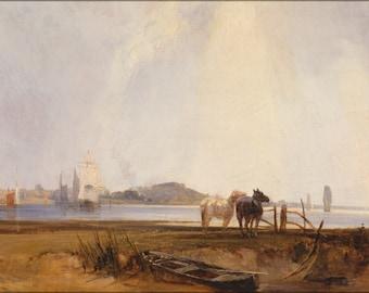 24x36 Poster . Landscape Near Quilleboeuf, France By Parkes Bonington 1824
