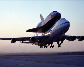 24x36 Poster . Nasa 747 Shuttle Carrier With Space Shuttle Endeavour