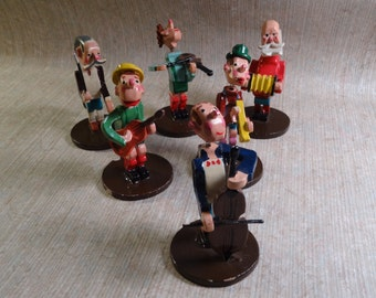 SALE!  REDUCED PRICE!  Village Symphony - Wood Musician Set Made in Japan