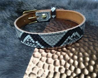 Genuine Python (snake) Skin BDSM Collar