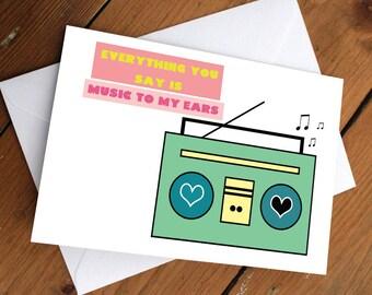 Music to my ears card