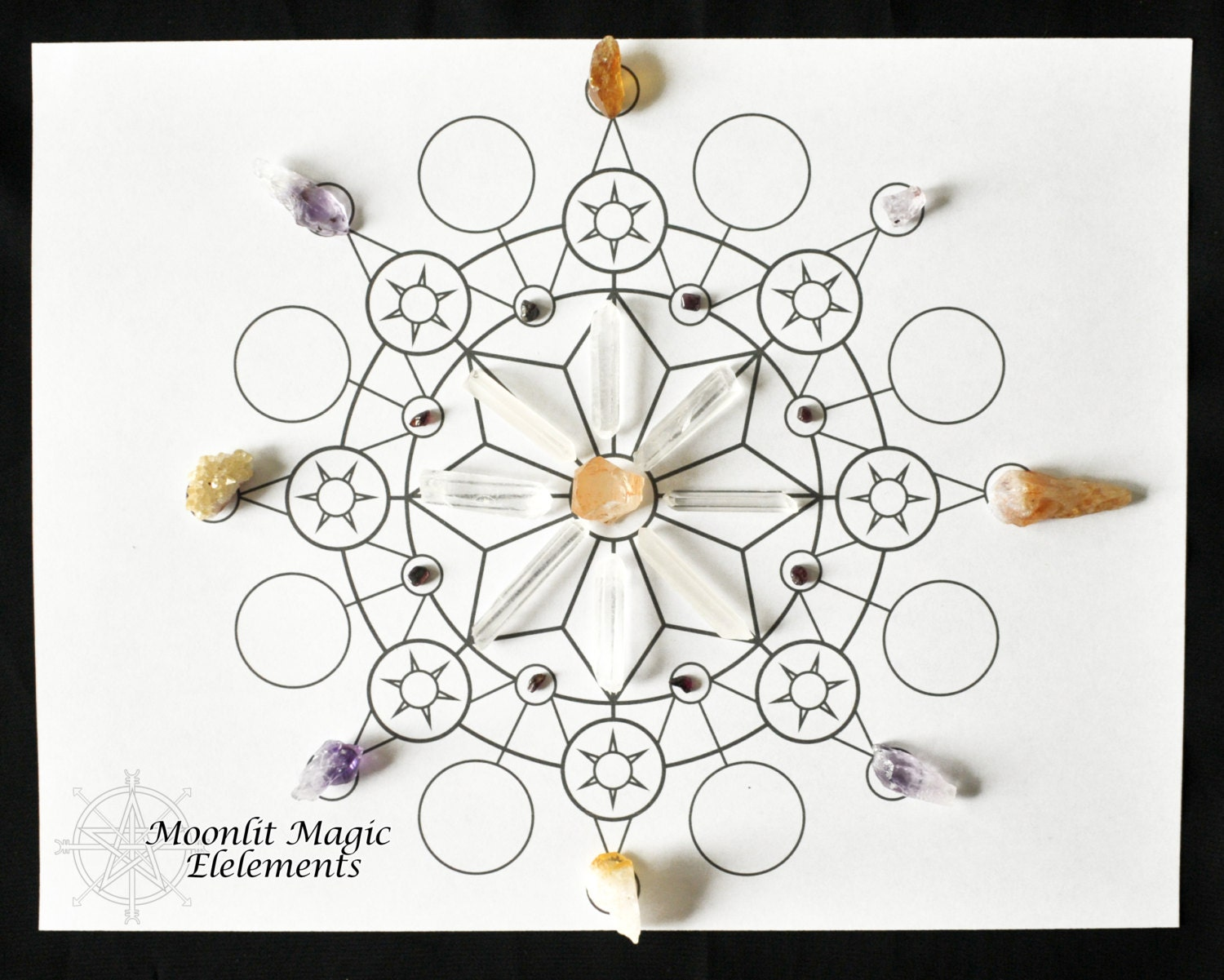 This is a picture of Wild Printable Crystal Grid