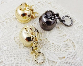 5Pcs Metal 12mm Cord Cap End Stopper Hardware, Jewelry Accessories, Rope Stopper Bag Chain Findings,Fix Belt Buckle Securing Hooks Materials